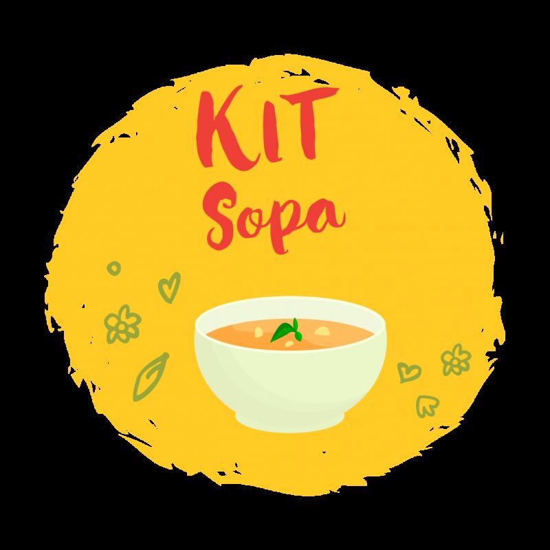 Nosso kit de sopa?contém 10?unidades entre 5 deliciosos?sabores