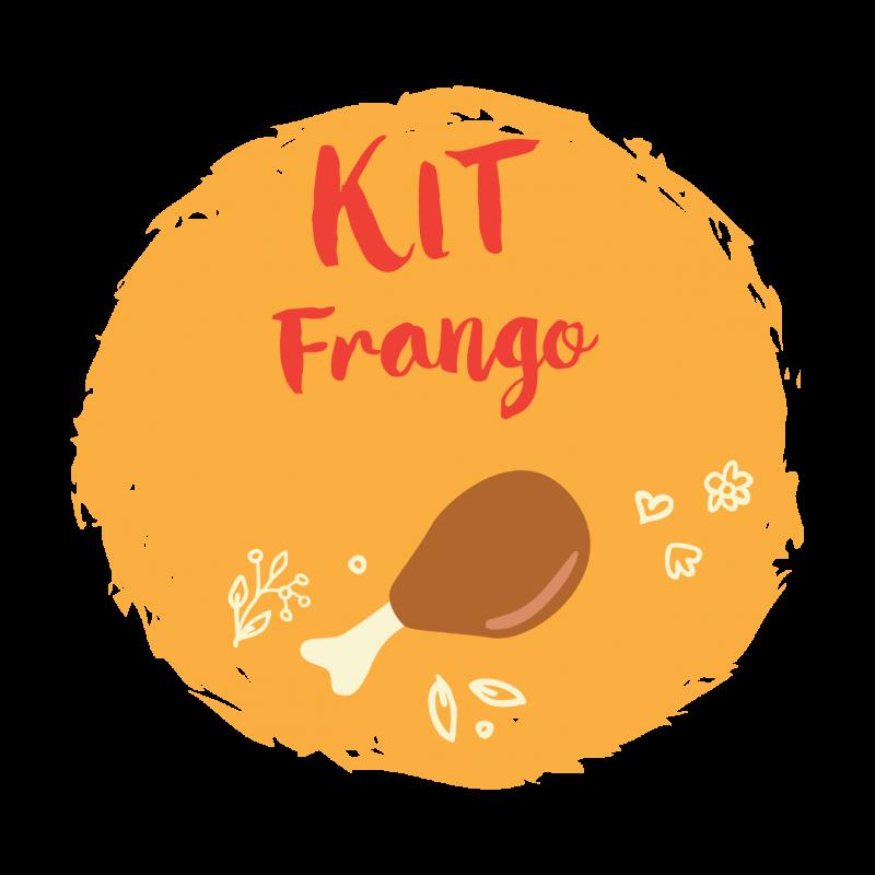 Kit frango com 15 unidades em 3 diferentes opções de 200g cada.